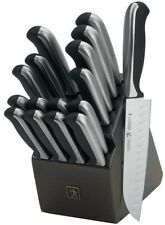 J.A. Henckels International Everedge Plus 17-pc Knife Block Set 15505-000 NEW