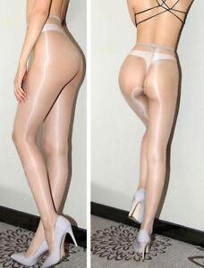 1 Denier Ladies High Gloss Shiny Pantyhose Glossy Tights Nylon Stockings Hosiery