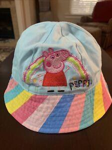 Peppa Pig Sun Hat Infant/Toddler Blue W/ Multi Stripe