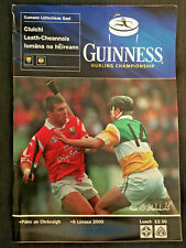 2000 GAA OFFALY v CORK All Ireland Hurling S-Final Programme