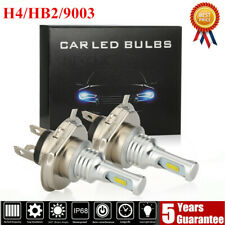 H4 LED Headlights Bulbs Conversion Kit High/Low Beam 80W 40000LM 6000K White