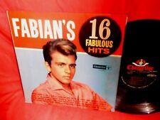 FABIAN Fabian's 16 fabulous hitst LP USA 1962 VG+ First Pressing