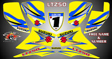 suzuki ltz50 quad graphics stickers decals name & number ltz 50 laminate vinyl