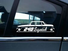 240 Squad sticker - For Volvo 240 244 sedan , swedish classic car