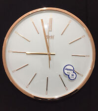 Copper color Wall Clock Quartz clock RSS movement Glass Top new home office