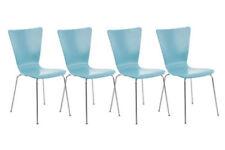 Chaises bleu en métal pour la salle à manger