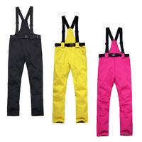 Women Men Ski Pants Snowboard Trousers Salopettes Skiing Snowboarding Bib