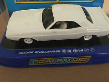 Scalextric Dodge Challenger-Blanc USA ONLY RELEASE-C3444 Comme neuf boxed