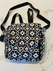 petunia pickle bottom diaper bag Backpack Combo Black and White Floral Baby