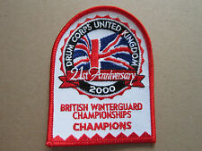 Drum Corps Winterguard Championships Champions 2000 Woven Cloth Patch Badge