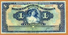 Nicaragua, 1 Cordoba, 1938, Pick 63b XF, Processed 495383