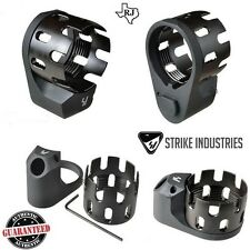 Strike Industries Enhanced Castle Nut & Extended QD End Plate 223/5.56/308 BLACK