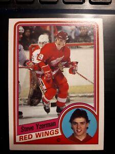 1984 - 85 OPC # 67, STEVE YZERMAN Rookie Card, Detroit Red Wings, EX-Mt