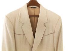 Pioneer Wear 42L Mens Western Blazer Jacket Cotton Blend Tan Tweed Vented