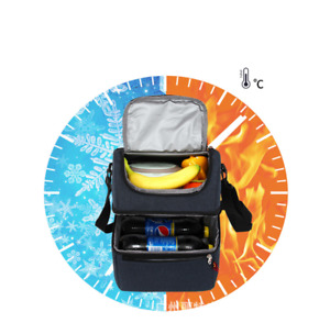 Multi-function Lunch Box Double layer Waterproof Leakproof Keep warm Bento bag