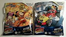 """TWO Mickey Mouse 24 Piece Puzzle On The Go """"Mickey and the Roadster Racers"""" NIP"""