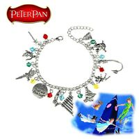 Disney's Peter Pan (11 Themed Charms) Assorted Metal Charm BRACELET