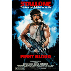 """Rambo: First Blood – Movie Poster – Sylvester Stallone – 91 x 61 cm 36"""" x 24"""""""