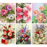 5D DIY Flowers Diamond Painting Full Round Drill Roses Mosaic Rhinestone