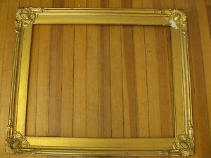 "Antique golden PICTURE FRAME- Dimensions: 30.5"" X 36.5"" / 3.5"" wide c.1900"