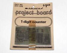 VINTAGE - UNBUILT Archer Radio Shack Project Board - 1 Digit Counter kit DIY set