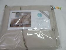 Martha Stewart Duvet Comforter Cover King size  Beige  100% Cotton