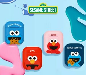 Official Sesame Street Cookie Monster Elmo AirPods Case Cover 100% Authentic