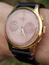 Chronographe Suisse,Vintage Salmon pink dial, chronograph watch,Running perfect.
