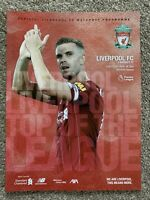 Liverpool Programme 2019-20 - Burnley Behind Closed Doors 11th July 2020