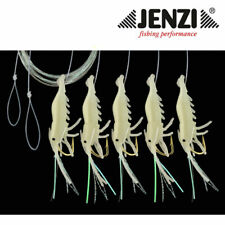 Jenzi Makrelen Shrimp Vorfach mit 5 Armen Rot//Orange Gr.1//0 Paternoster