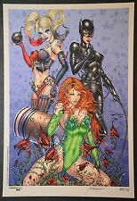 Catwoman Harley Quinn Poison Ivy Art Print Limited to 10