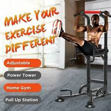 Pull Up Power Tower Workout Dip Station Gym Training Equipment Stretch Machine