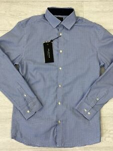 """SELECTED HOMME Slim Fit New Mark Blue Micro Check Shirt Size M / 40"""""""