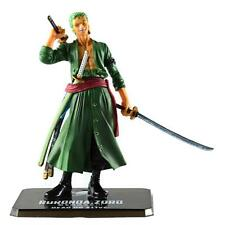 7'' Anime One Piece Battle Action Figure Toy Roronoa Zoro Figurine Statue w/ Box