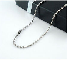 Wholesale lots 10pcs Women / Men Silver plated Bead Chain Necklace Jewelry Gift