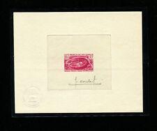 Somali Coast 1967 Reptiles Scott 309 Signed Sunken Die Artist Proof in Dark Rose