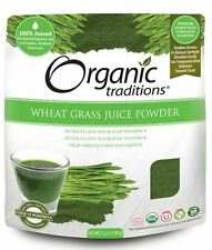 Organic Traditions WHEAT GRASS JUICE POWDER Vitamin A & K 150g