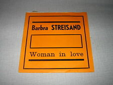 BARBRA STREISAND 45 TOURS BELGIQUE USA WOMAN IN LOVE
