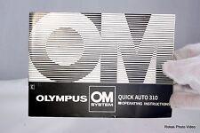 Olympus Camera OM System Quick Auto 310 flash Manual Guide (EN)