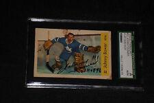 HOF JOHNNY BOWER 1959-60 PARKHURST SIGNED AUTOGRAPHED CARD #32 SGC SLABBED