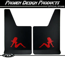 CHEVROLET SILVERADO 1500 Truck Flap Splash Guards, Mud Guards_TRUCKER GIRL_RED