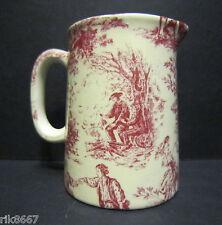 Heron Cross Pottery ROMANCE (RED) Chintz English 1/4 Pint Cream Jug