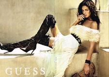 PUBLICITE ADVERTISING 035 2014 GUESS  haute couture bottes cuissardes (2p)270315
