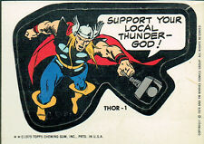 MARVEL COMIC BOOK HEROES 1974 STICKER CARD THOR-1