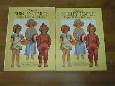 Lot of 2 Original Shirley Temple Paper Dolls In Full Color Books