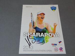 Maria Sharapova Signed 2013 W&S 5x7 Player Card Autographed PSA/DNA COA 1F