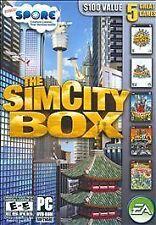 The SIM CITY BOX PC 5 games in one with SPORE Bonus