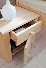 Chevet table de nuit 1 tiroir 1 porte PIRIN pin massif naturel