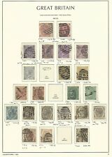 Great Britain Stamp Collection on Lighthouse Page 1867-80, #49/60 Scv $2875