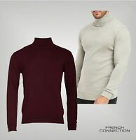 Mens French Connection Long Sleeve Knitted Roll Neck Jumper Sizes from S to XXL